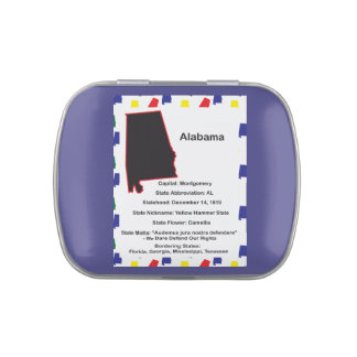 Alabama Information Educational Jelly Belly Candy Tin
