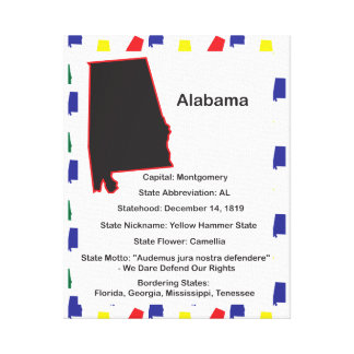 Alabama Information Educational Canvas Print