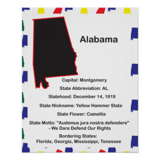 Alabama Information Educational Poster