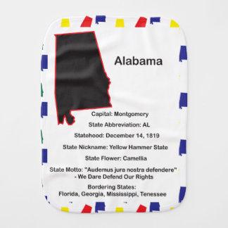 Alabama Information Educational Burp Cloth