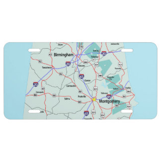 ALABAMA Interstate Map License Plate