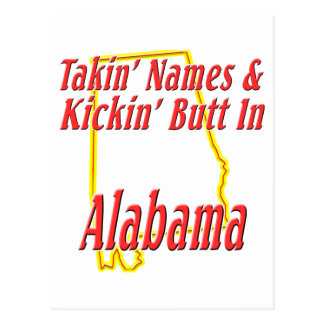 Alabama - Kickin' Butt Postcard
