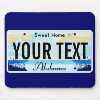 Alabama license plate mouse pad