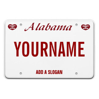 Alabama License Plate (personalized) Magnet
