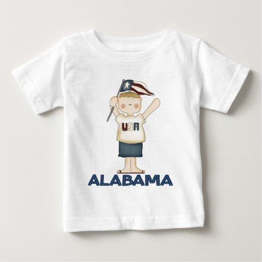 Alabama linda los E.E.U.U. Playera De Bebé