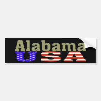 ¡Alabama los E.E.U.U.! Pegatina para el parachoque Pegatina De Parachoque