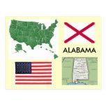 Alabama, los E.E.U.U. Tarjetas Postales