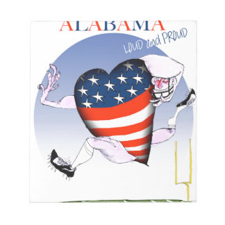 alabama loud and proud, tony fernandes notepad