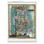 Alabama Map and State Flag Greeting Card