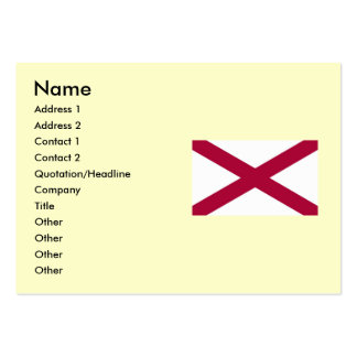 Alabama Map and State Flag Large Business Cards (Pack Of 100)
