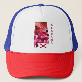 Alabama Map and State Flag Trucker Hat