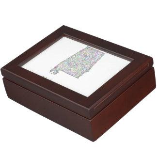 Alabama map keepsake box