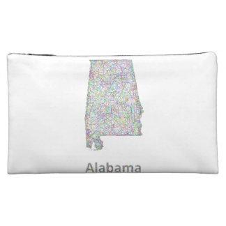 Alabama map makeup bag