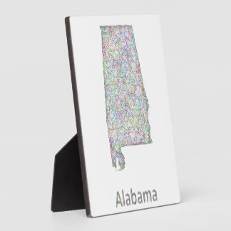 Alabama map plaque