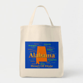 Alabama Map Silhouette Pop Art Tote Bag