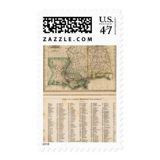 Alabama, Mississippi, Louisiana Postage