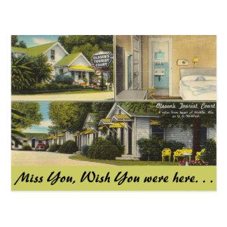 Alabama, Olssen's Tourist Court Postcard