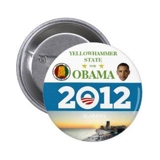 ALABAMA para el botón político del pinback de Obam Pin Redondo De 2 Pulgadas