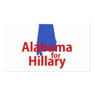 Alabama para Hillary Tarjetas De Visita