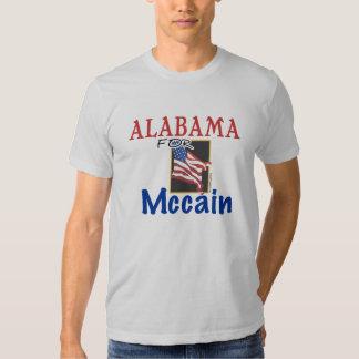 Alabama para la camiseta de Mccain Playera
