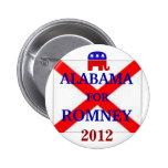 ALABAMA para Romney 2012 Pins