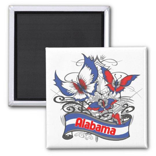 Alabama Patriotism Butterfly Magnet