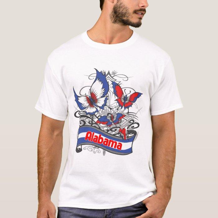 Alabama Patriotism Butterfly T-Shirt