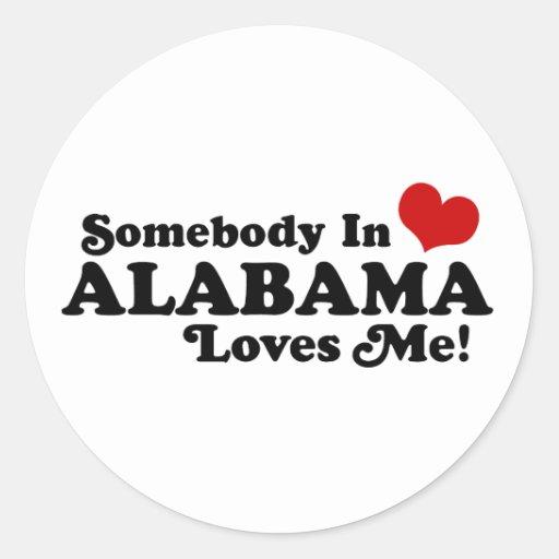 Alabama Pegatina Redonda