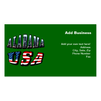Alabama Picture and USA Flag Font Business Card Templates