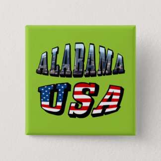 Alabama Picture and USA Flag Font Button