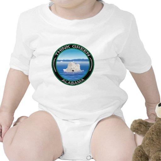 Alabama polar verde trajes de bebé