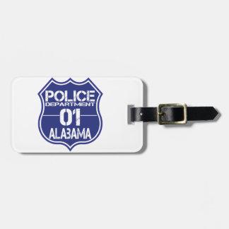 Alabama Police Department Shield 01 Bag Tag