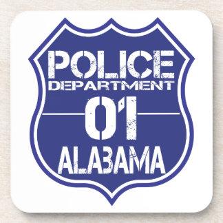 Alabama Police Department Shield 01 Beverage Coaster