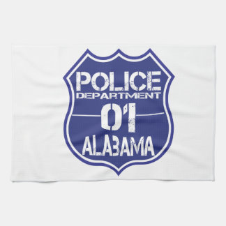 Alabama Police Department Shield 01 Hand Towels