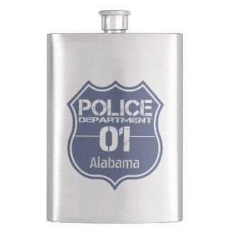 Alabama Police Department Shield 01 Hip Flask