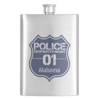 Alabama Police Department Shield 01 Hip Flask