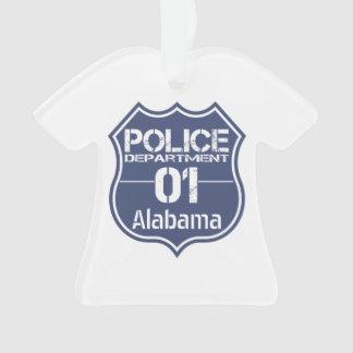Alabama Police Department Shield 01 Ornament