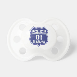 Alabama Police Department Shield 01 Pacifier