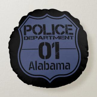 Alabama Police Department Shield 01 Round Pillow