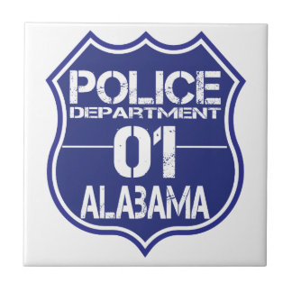Alabama Police Department Shield 01 Tile