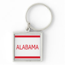 Alabama Premium Square Keychain