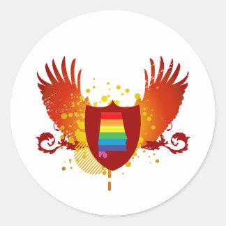 alabama pride crest classic round sticker