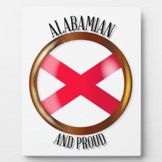 Alabama Proud Flag Button Plaque