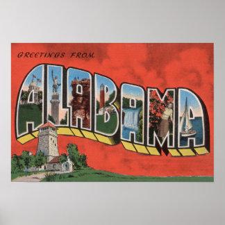 Alabama (Red)Large Letter ScenesAlabama Poster