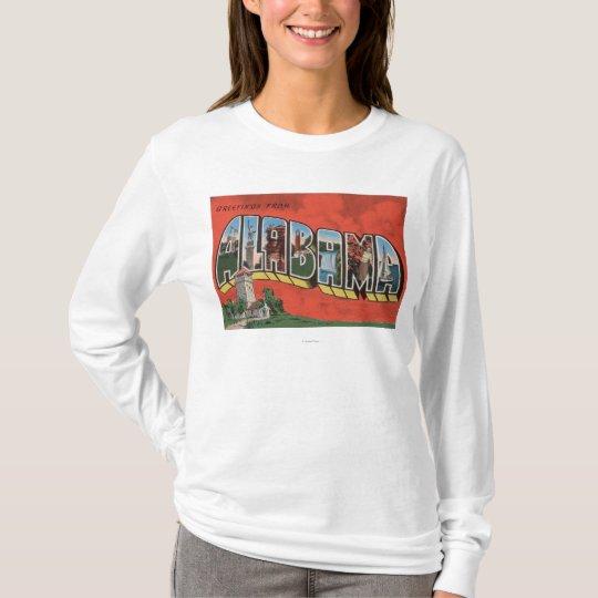 Alabama (Red)Large Letter ScenesAlabama T-Shirt