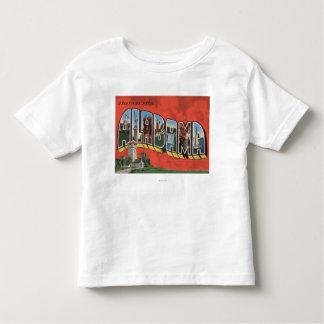 Alabama (Red)Large Letter ScenesAlabama Toddler T-shirt