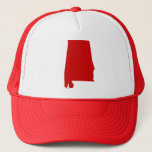 """Alabama Red Snap Back Mesh Trucker Hat<br><div class=""""desc"""">Alabama Red Snap Back Mesh Trucker Hat  Celebrate your Crimson Tide pride with this great red state of Alabama Trucker cap!</div>"""