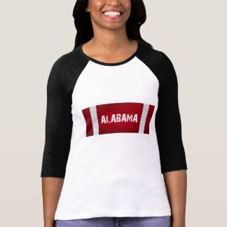 ALABAMA Red White Stripes Tee Shirt