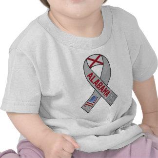 Alabama Ribbon of Support T Shirts