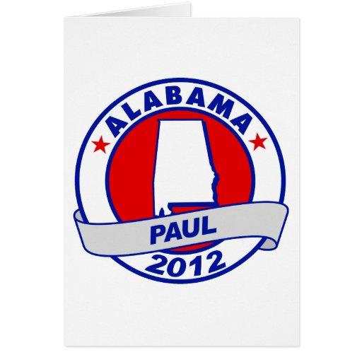 Alabama Ron Paul Tarjeta Pequeña